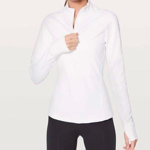 lululemon Toasty Tech 1/2 ZIP Pullover in White